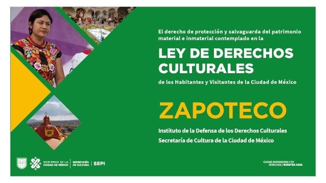 Zapoteco Cartilla de Derechos Culturales