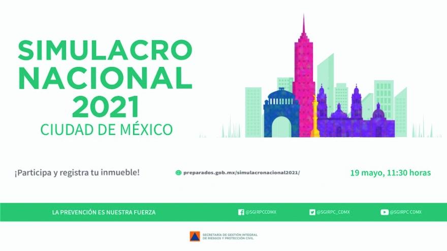Simulacro Nacional 2021 Ciudad de México